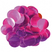 Metallic Fuchsia Foil Confetti | 25mm Metallic Round | 50g Bag